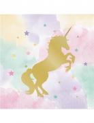 16 tovaglioli di carta unicorno pastello