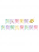 Ghirlanda di compleanno unicorno pastello