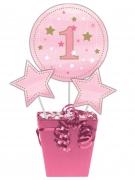 3 stecchini per centrotavola Little Star rosa