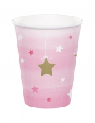8 bicchieri Little Star rosa