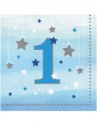 16 tovaglioli little star blu 1 anno