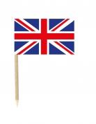 50 bandierine con stecchino della Gran Bretagna