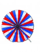 Ventaglio rotondo tricolore francese