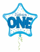 Palloncino alluminio Fun to be one blu