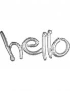 Palloncino di alluminio Hello argentato