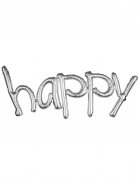 Palloncino di alluminio Happy argentato