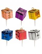Kit 6 decorazioni per dolci pacchetti regalo