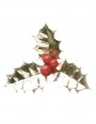 Decorazione agrifoglio natalizio