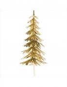 Decorazione per dolci albero di Natale dorato
