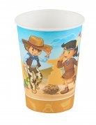 6 bicchieri cowboy e indiani