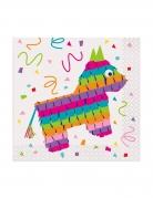 16 tovagliolini di carta per festa messicana