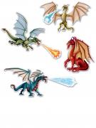 7 decorazioni murali in cartone draghi