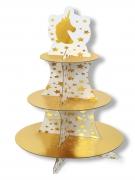 Alzata per cupcakes unicorni oro