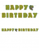Ghirlanda verde Happy Birthday tema dinosauri