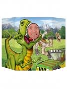Cartellone con foro per far foto dinosauro