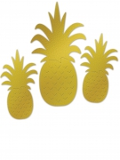 3 ananas dorate per parete