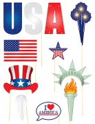 11 accessori photobooth tema USA