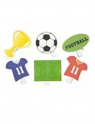 6 mollette decorative a tema calcio