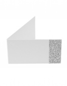 6 etichette di carta bianche e brillantini argento