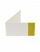 6 etichette di carta bianche e brillantini oro