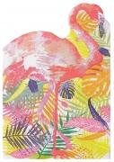 20 tovaglioli di carta a forma di fenicotteri tropicali