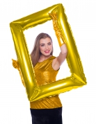 Palloncino alluminio cornice dorata