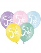 6 palloncini colorati My 5th birthday