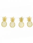 Ghirlanda fai da te con ananas dorate