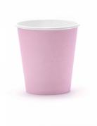 6 bicchieri in cartone rosa cipria