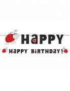 Ghirlanda Happy Birthday coccinella rossa e nera