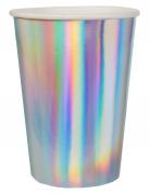 10 bicchieri in cartone iridescenti