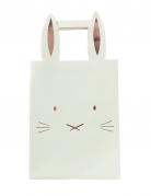 5 sacchetti regalo coniglietto oro rosa