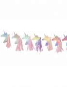 Ghirlanda con unicorni e pon pon iridescente