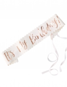 Cintura di carta It's my birthday oro rosa