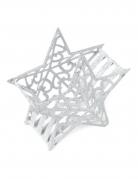 Contenitore in metallo stella bianca con brillantini