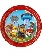 8 piatti in cartone rossi Paw Patrol™ 23 cm