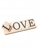 Decorazione Love con supporto in legno