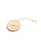 4 rondelle di legno con corda Amour