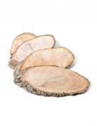 4 rondelle ovali in legno piatto