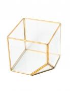 Terrario geometrico color oro