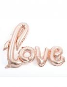 Palloncino alluminio Love oro rosa