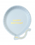 12 piatti in cartone palloncini It's your birthday 17 cm