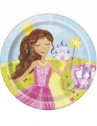 8 piatti in cartone principessa magica 23 cm