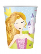 8 bicchieri in cartone principessa magica