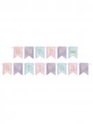 Ghirlanda in cartone Happy Birthday principessa magica