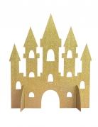 Centrotavola dorato castello da principessa