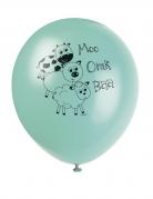 8 palloncini colorati gli animali della fattoria