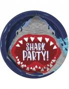 8 piatti in cartone squalo 23 cm