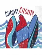 16 tovaglioli di carta squalo