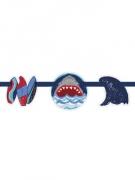 Ghirlanda in cartone con bandierine squalo